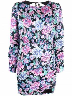 Платье мини с цветочным принтом For Love And Lemons. Цвет: синий
