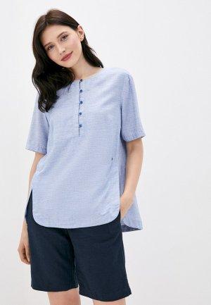 Блуза Finn Flare. Цвет: голубой