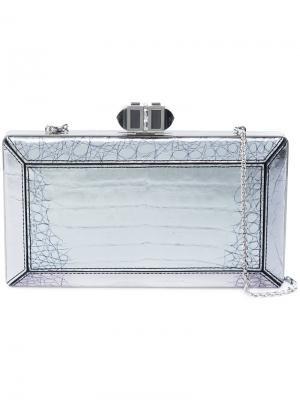 Клатч прямоугольной формы Judith Leiber Couture. Цвет: металлический