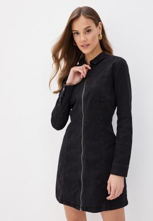 Платье джинсовое Noisy May. Цвет: черный