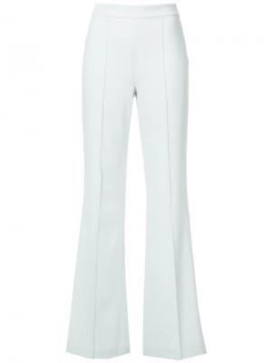 Расклешенные брюки прямого кроя Alice+Olivia. Цвет: зеленый