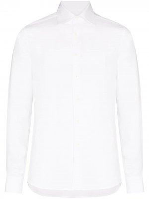 Рубашка с длинными рукавами Canali. Цвет: белый