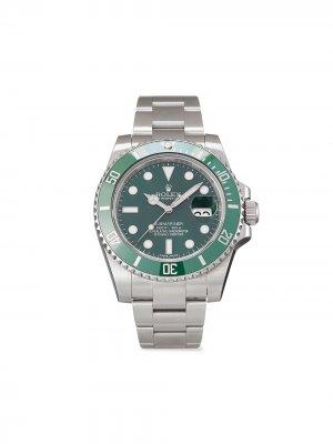 Наручные часы Submariner Date pre-owned 40 мм 2020-го года Rolex. Цвет: зеленый