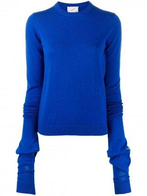 Пуловер с длинными рукавами Coperni. Цвет: синий