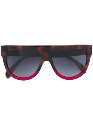 Крупные солнцезащитные очки Céline Eyewear. Цвет: коричневый