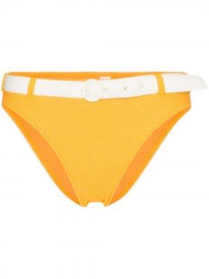 Плавки бикини Rachel с поясом Solid & Striped. Цвет: оранжевый