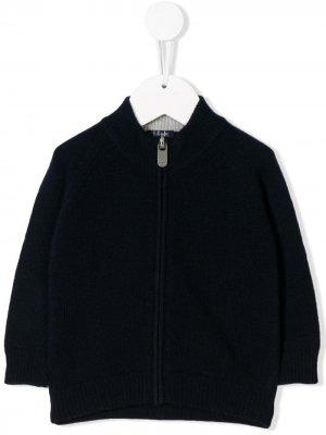 Куртка на молнии Il Gufo. Цвет: синий