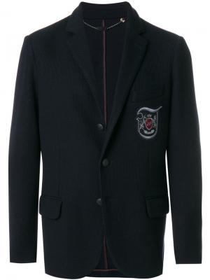 Пиджак с заплаткой логотипом Jo No Fui. Цвет: синий