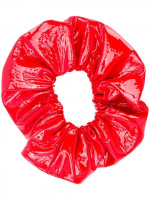 Лакированная резинка для волос Manokhi. Цвет: красный