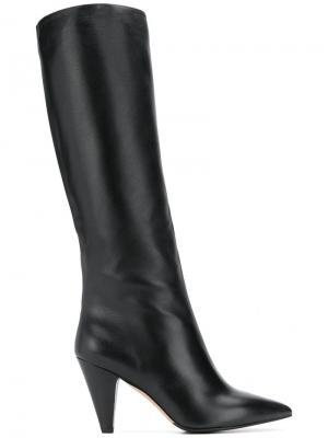 Сапоги по колено с заостренным носком The Seller. Цвет: черный