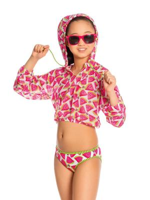 Туника-футболка для девочек Arina. Цвет: розовый, белый