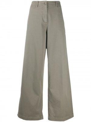 Широкие брюки с завышенной талией Aspesi. Цвет: серый