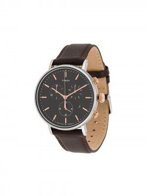 Наручные часы Fairfield Chrono 41 мм TIMEX. Цвет: коричневый