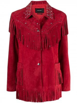 Куртка с бахромой Isabel Marant. Цвет: красный