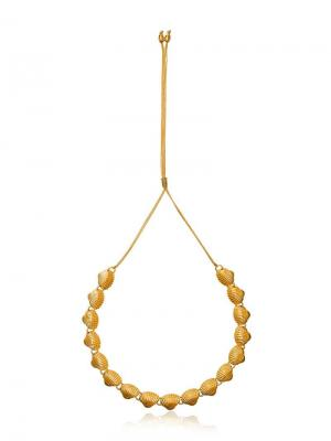 Ожерелье с ракушками Tohum. Цвет: золотистый