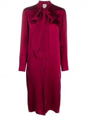 LAutre Chose платье-рубашка длины миди с бантом L'Autre. Цвет: красный