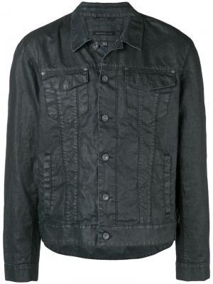 Buttoned shirt jacket John Varvatos. Цвет: синий