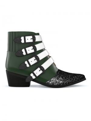 Ботинки AJ006 Toga Pulla. Цвет: dark green