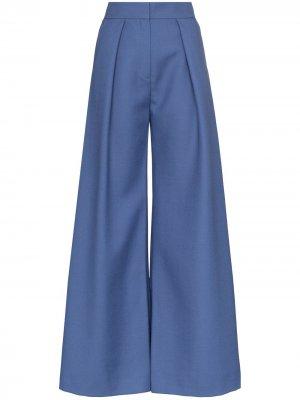 Расклешенные брюки Vika Gazinskaya. Цвет: синий
