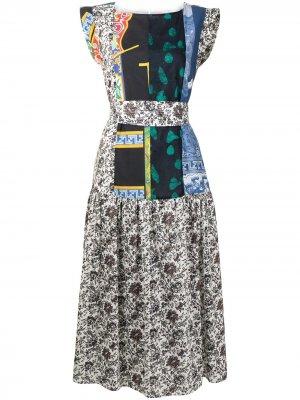 Платье Audre в технике пэчворк Rachel Comey. Цвет: разноцветный