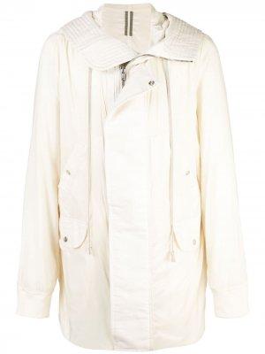 Пальто на молнии с капюшоном Rick Owens DRKSHDW. Цвет: нейтральные цвета