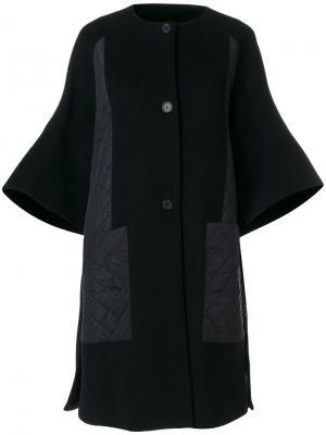 Пальто-кардиган колор блок I'M Isola Marras. Цвет: черный