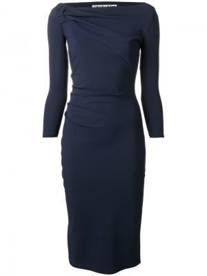 Top knot tube dress Le Petite Robe Di Chiara Boni. Цвет: синий