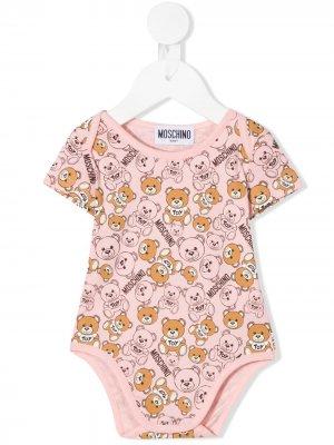 Боди Teddy Bear Moschino Kids. Цвет: розовый