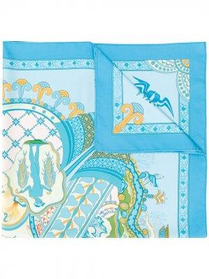 Платок Les Printemps De ra 2000-х годов pre-owned Hermès. Цвет: синий