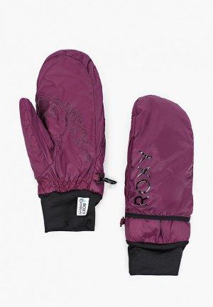 Варежки горнолыжные Roxy. Цвет: фиолетовый