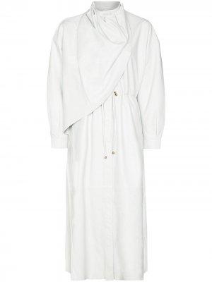 Драпированное пальто с запахом Dodo Bar Or. Цвет: белый