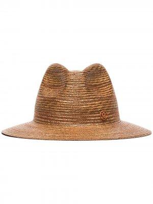 Соломенная шляпа-федора Rico Maison Michel. Цвет: коричневый