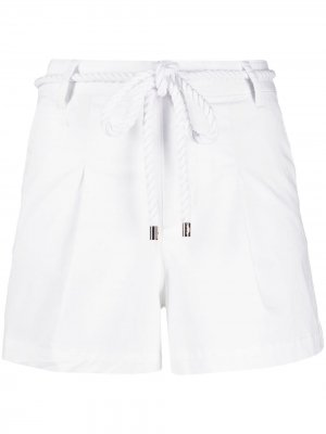 Спортивные шорты с кулиской Ea7 Emporio Armani. Цвет: белый