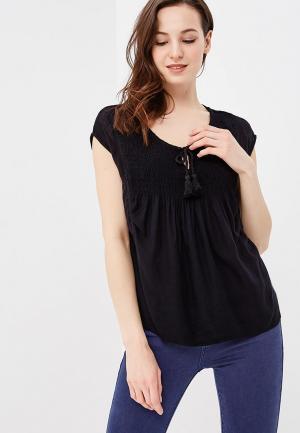 Блуза Roxy. Цвет: черный