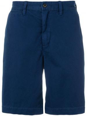 Шорты-чинос облегающего кроя Polo Ralph Lauren. Цвет: синий