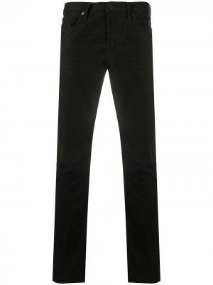 Прямые джинсы средней посадки TOM FORD. Цвет: черный