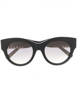 Tods очки в круглой оправе Tod's. Цвет: черный