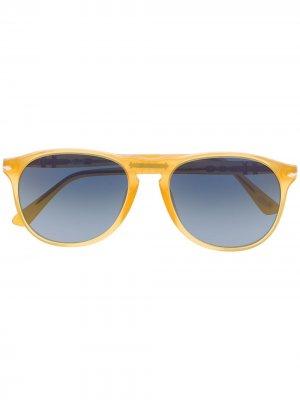 Солнцезащитные очки-авиаторы Persol. Цвет: желтый