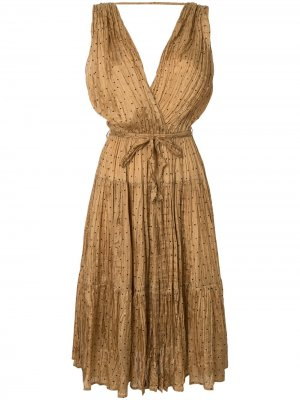 Платье миди Balsan Mes Demoiselles. Цвет: коричневый