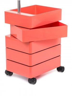 Тумба на колесиках magis. Цвет: розовый
