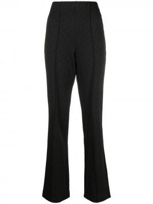 Прямые брюки с монограммой Saks Potts. Цвет: черный