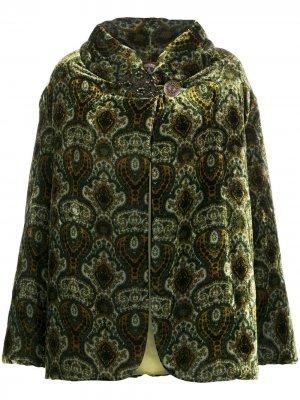 Фактурное пальто 1990-х годов с узором A.N.G.E.L.O. Vintage Cult. Цвет: зеленый