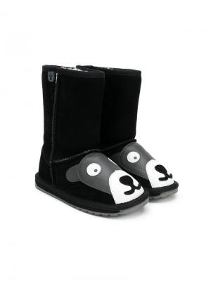 Animal face boots Emu Kids. Цвет: черный