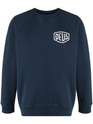 Толстовка с логотипом Deus Ex Machina. Цвет: синий