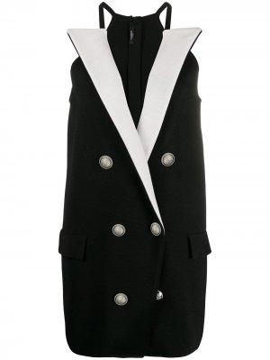 Короткое платье-блейзер Balmain. Цвет: черный