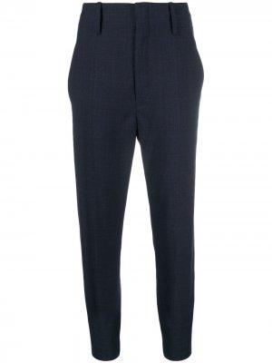Укороченные зауженные брюки Isabel Marant Étoile. Цвет: синий
