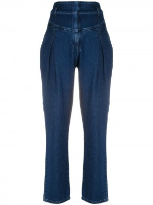 Прямые джинсы с завышенной талией Alberta Ferretti. Цвет: синий
