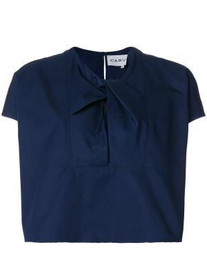 Блузка с завязкой на вороте Carven. Цвет: синий