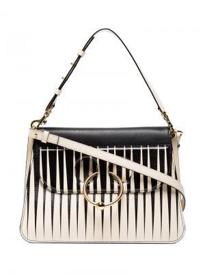 Средняя полосатая сумка на плечо JW Anderson. Цвет: нейтральные цвета
