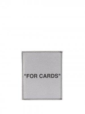 Картхолдер с принтом For Cards Off-White. Цвет: серебристый